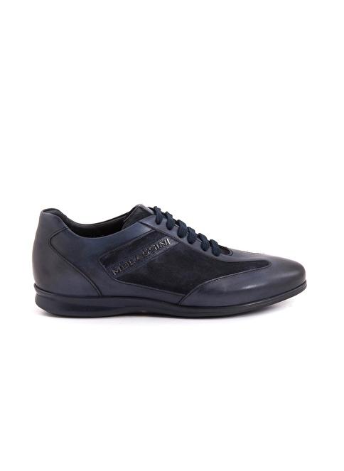 Mocassini %100 Deri Bağcıklı Ayakkabı Lacivert